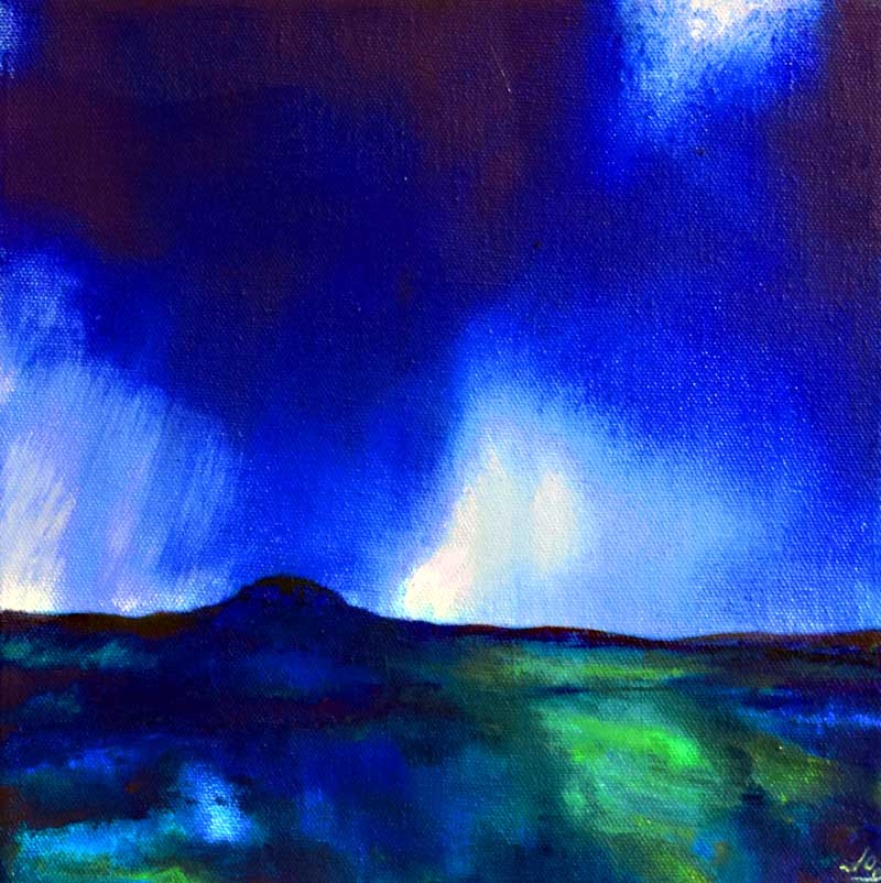 Abstracted landscape of Ireland