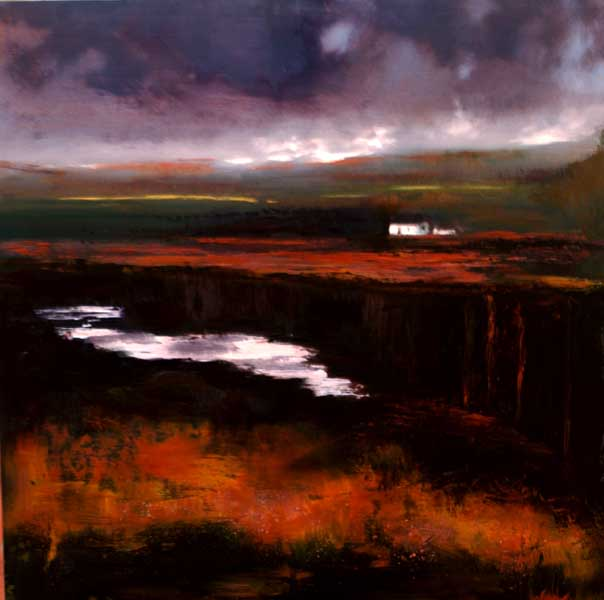 John O'Grady Art - an atmospheric bogland paintingIreland