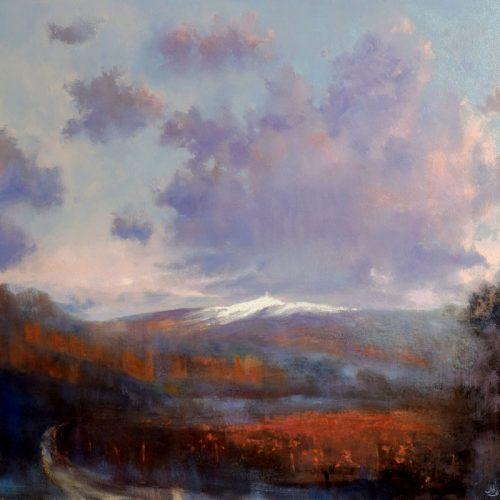 John O'Grady Art-First Snow on Mont Ventoux