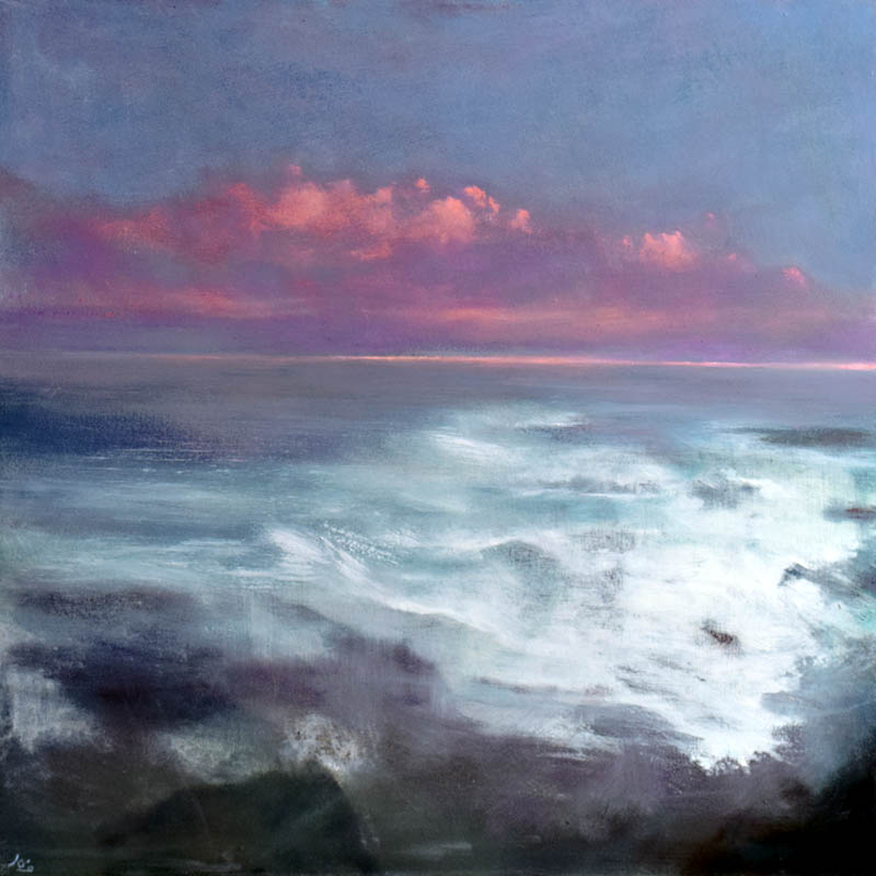 Atmospheric Irish seascape by John O'Grady Artist