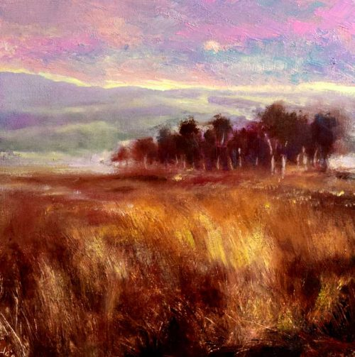 John O'Grady Art Dawn over the Copse