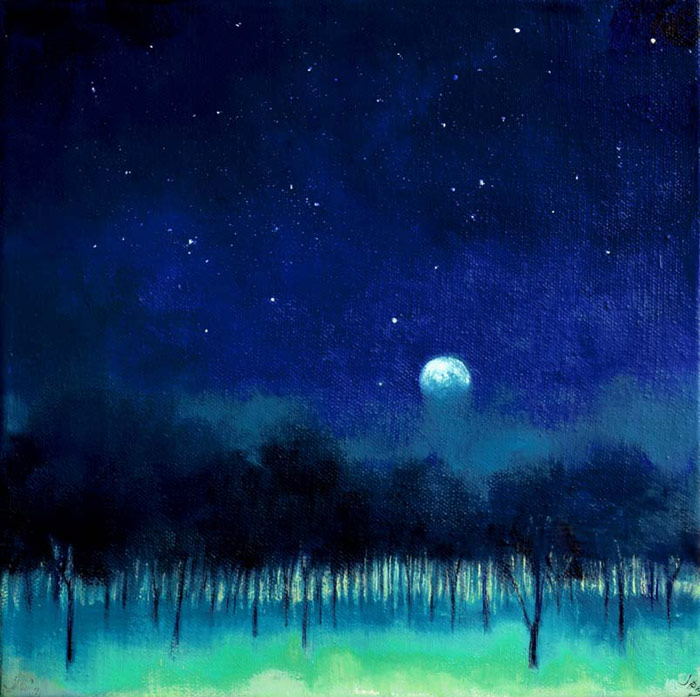 Blue Moon over the Orchard #298