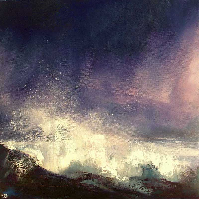 A dramatic stormy evening on the west coast of Ireland