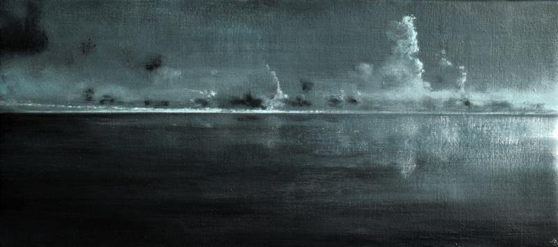 John O'Grady Art - From Dark into Light VII | atmospheric Irish seascape
