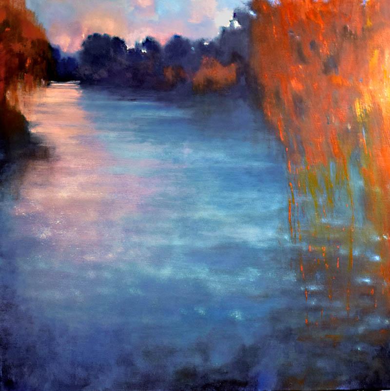 John O'Grady Art - On the River Sorgue