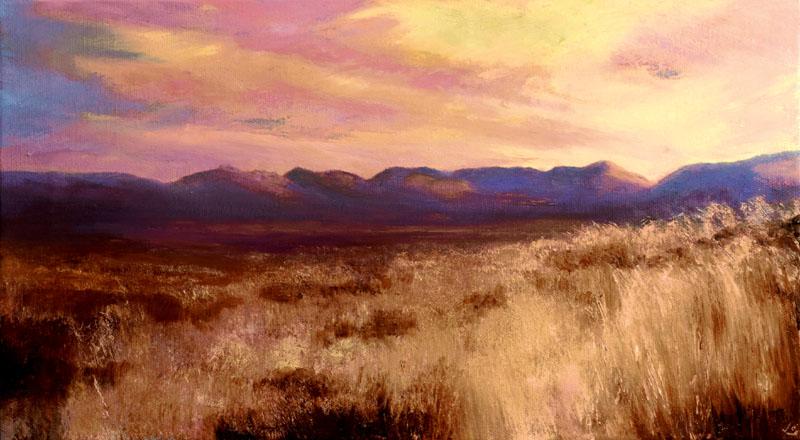 John O'Grady Art Dawn in the West | Irish bogland at dawn