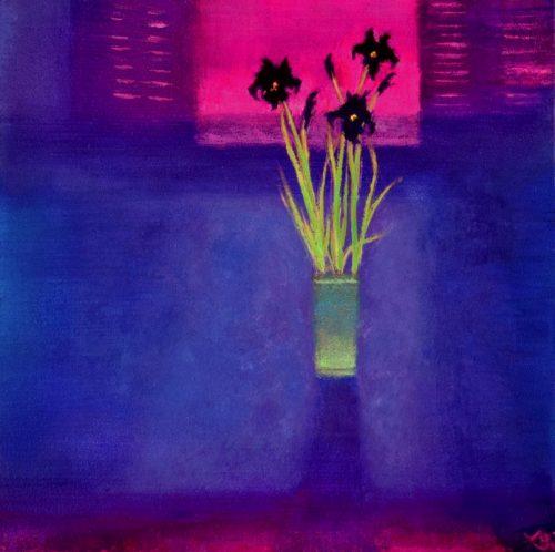 John O'Grady Art - Wild Irises by the Window