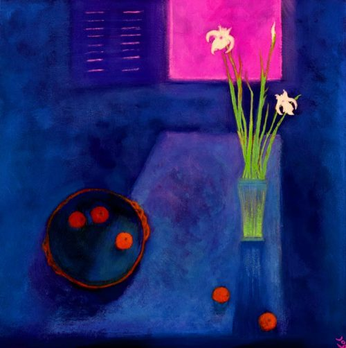 John O'Grady Art - Wild Irises by the Window | A warm provencal interior