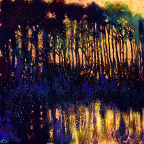John O'Grady Art - The Clearing in the Wood III | an original landscape painting of Provence