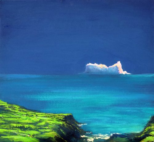 John O'Grady Art - The Edge of the Deep Green Sea III | Seascape with iceberg