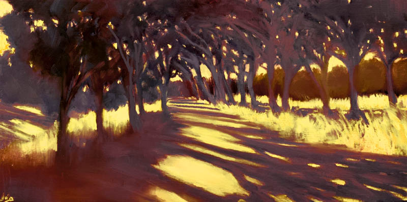 John O'Grady Art - I took the one less travelled by IV | A very warm morning n Provence