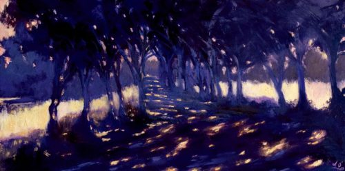 John O'Grady Ar t - I took the One Less Travelled by III | A 'chemin' in Provence dappled with light
