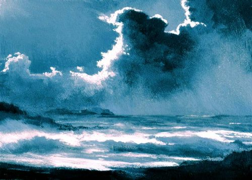 John O Grady Art.From Dark into Light VII- Seascape of the West of Ireland