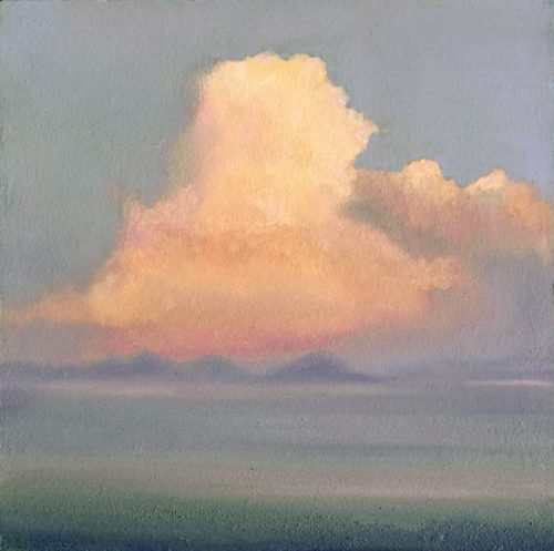 John OGrady Art - Into the West III | A skyscape with a large cumulus on the west coast of Ireland - Irish landscape painting