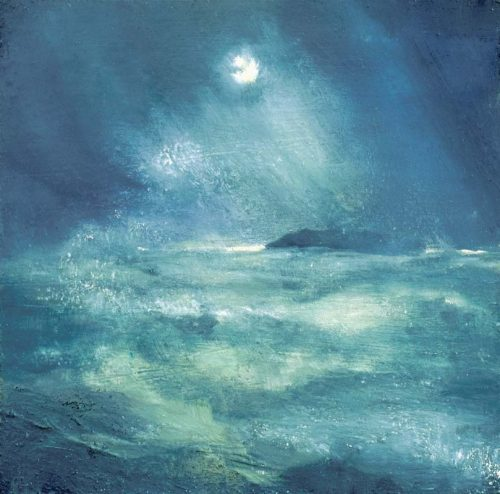 John O Grady Art - Morning at The Edge of the Deep Green Sea | Dramatic Irish seascape, blue and green seascape