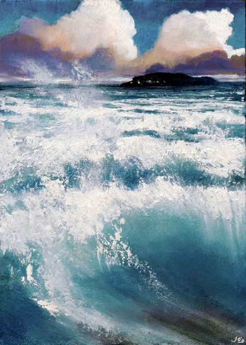 John O Grady Art - I Dreamt of White Horses III | West of Ireland seascape with waves and energy