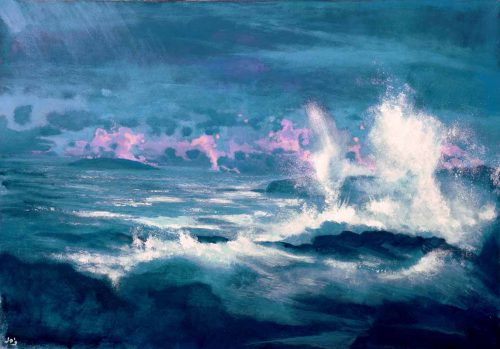 John O Grady Art - The Wave | vibrant seascape of the west of Ireland