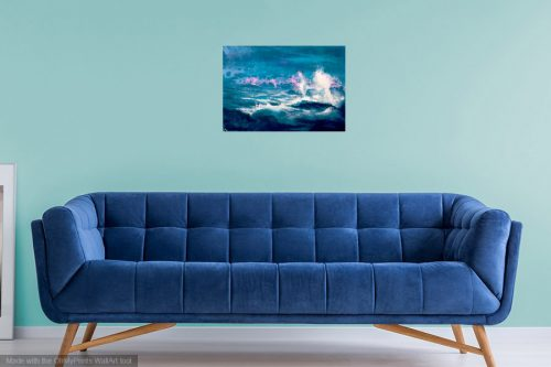 John O'Grady Art - The wave painting in a living room