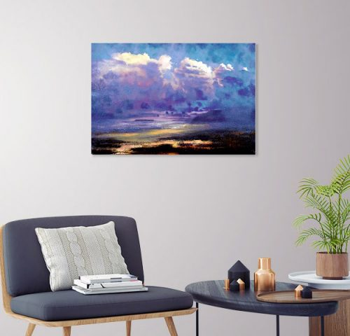Low Tide by John O'Grady - skyscape as a decor idea for the reading corner