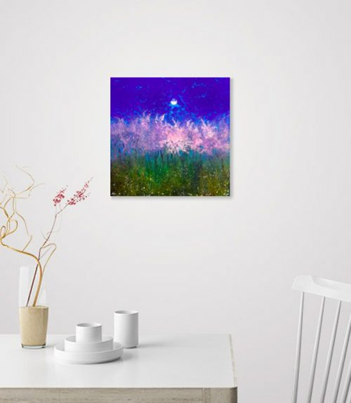 Moonrise over the Orchard by John O'Grady - decor idea in the dining room with decorative pink blossoms lit by the moon