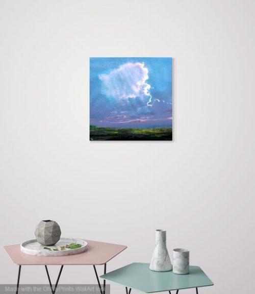 Evening Light by John O'Grady in a living room setting