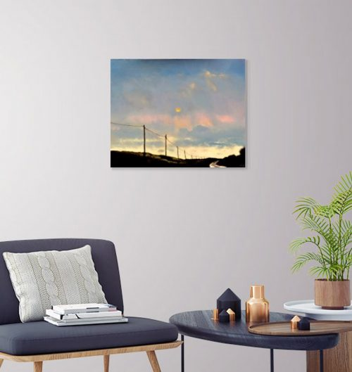 The road to the Sea II by John O'Grady displayed in a home decor