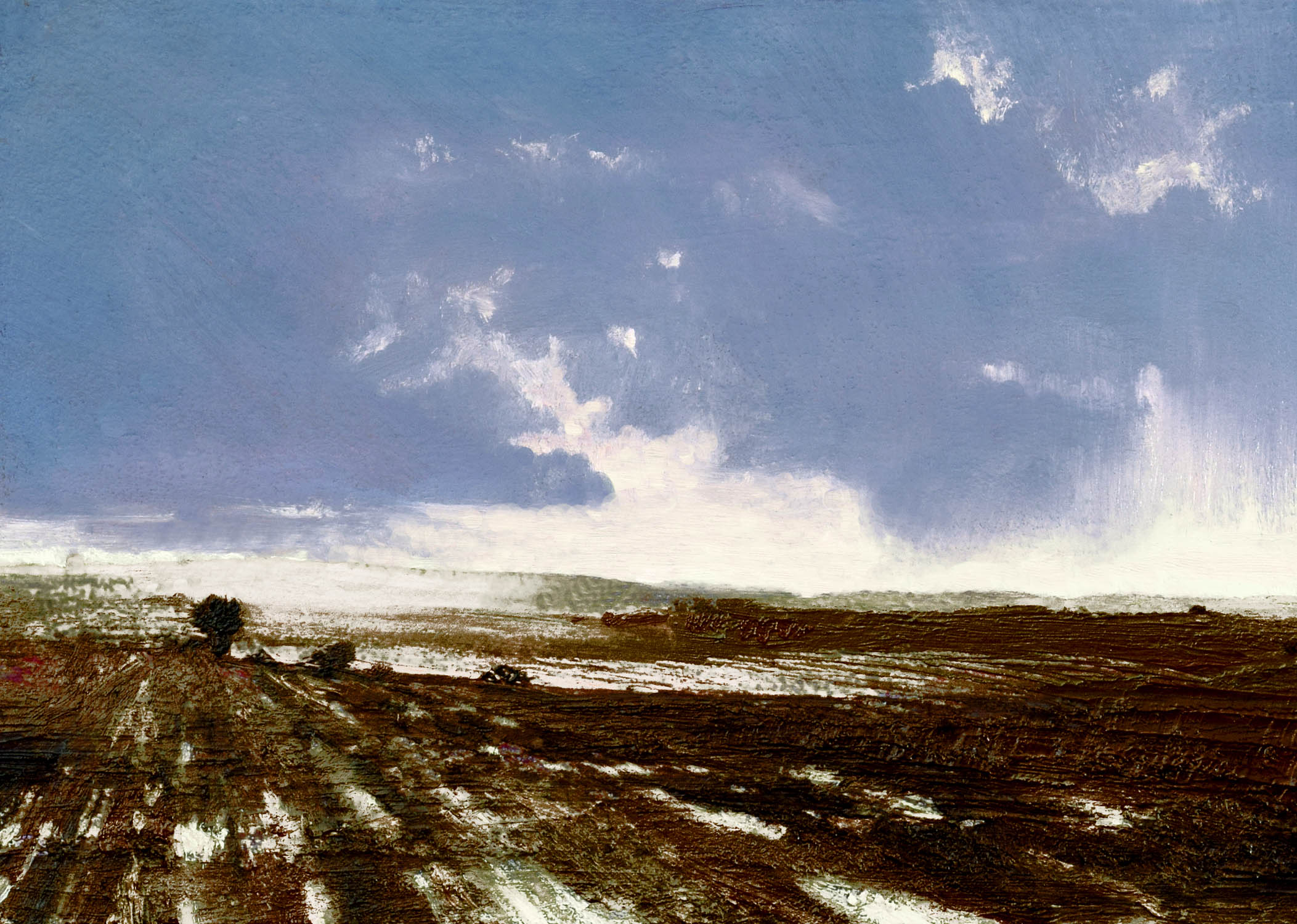The Fallow Field III, John O'Grady| Frost on frozen fields