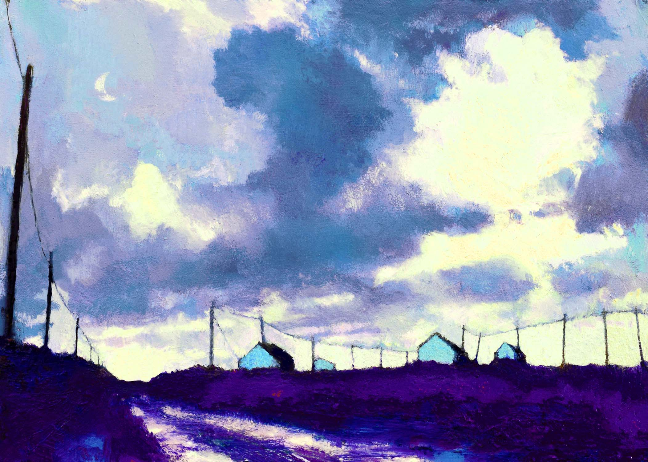 The Road to the Sea IV by John O'Grady | A contemporary oil on canvas landscape painting of the west of Ireland, close to the ocean