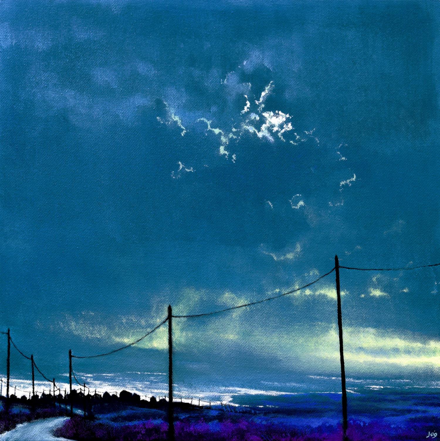 sea sky in acrylics