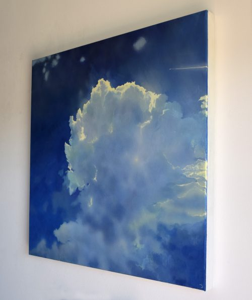 Icarus IV by John O'Grady | A side view of the cloudscape A