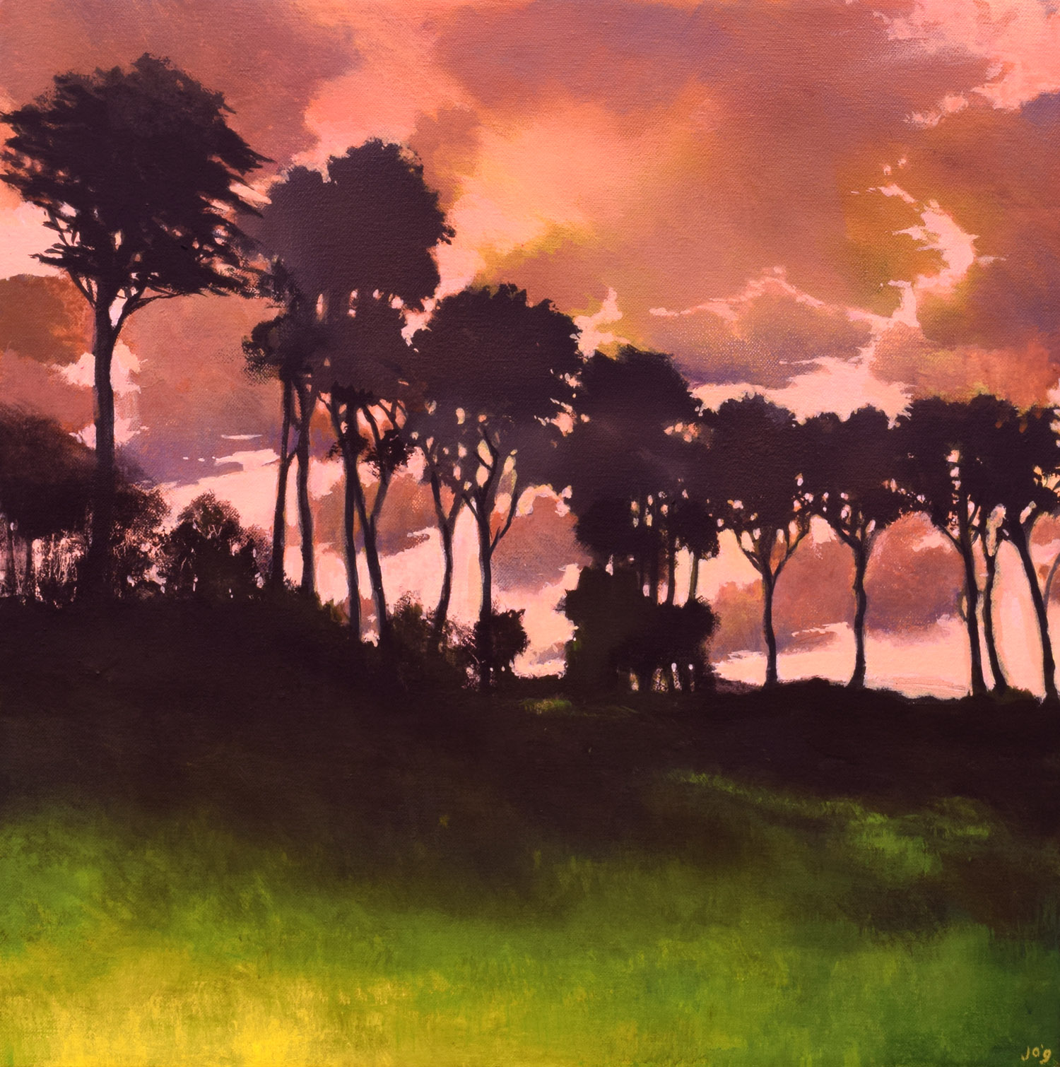 Murmur in the Trees VI by John O'Grady | A sunset on a hot summer day in Provence