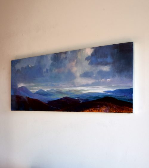 Scenic west of Ireland Painting seen side ways and called 'As Far as the Eye Can See VI' by John O'Grady