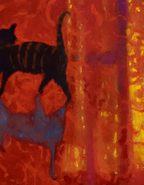 Detail of cat from Summer Evening, Vence