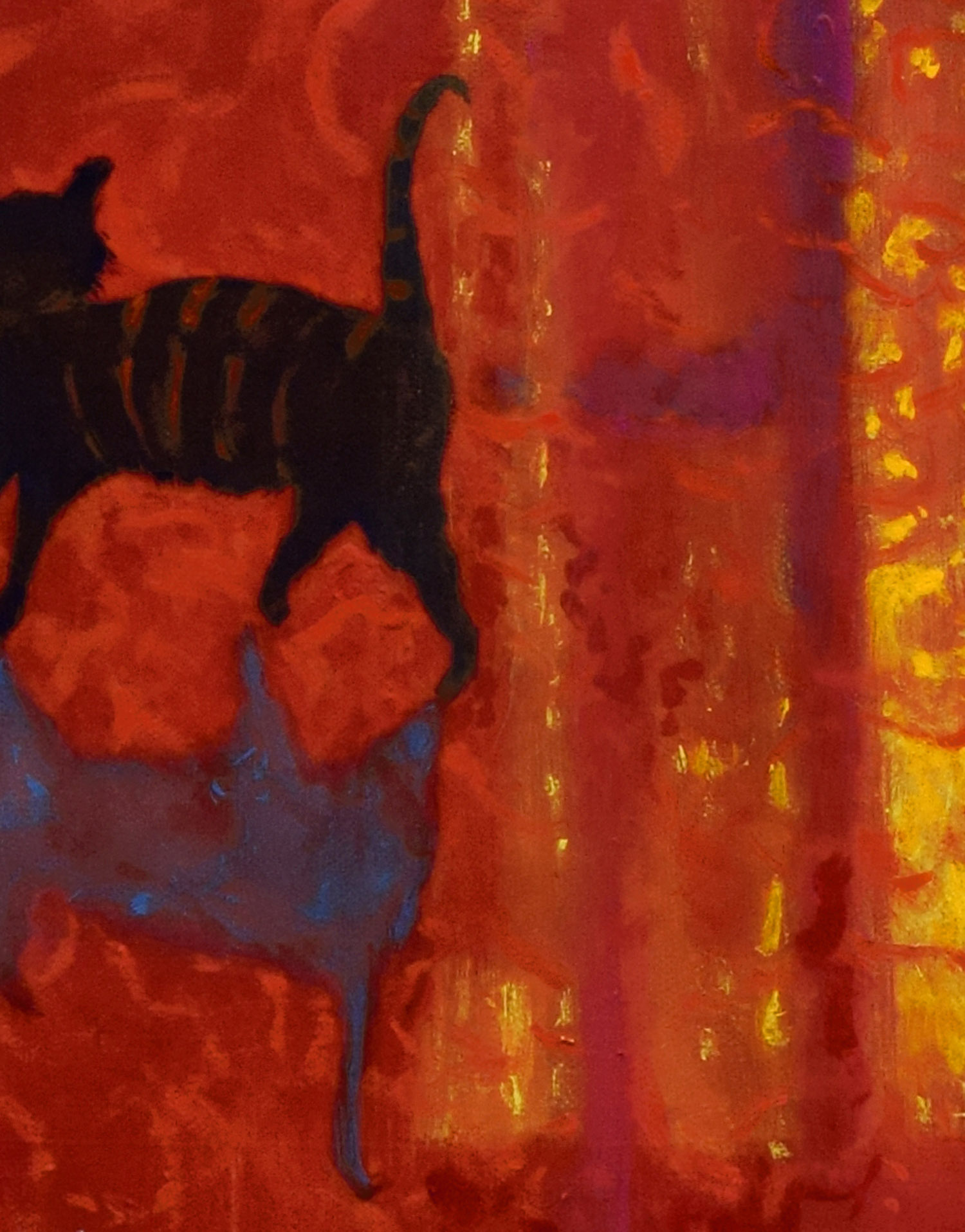 Detail of Cat from Summer Evening, Vence by John O'Grady