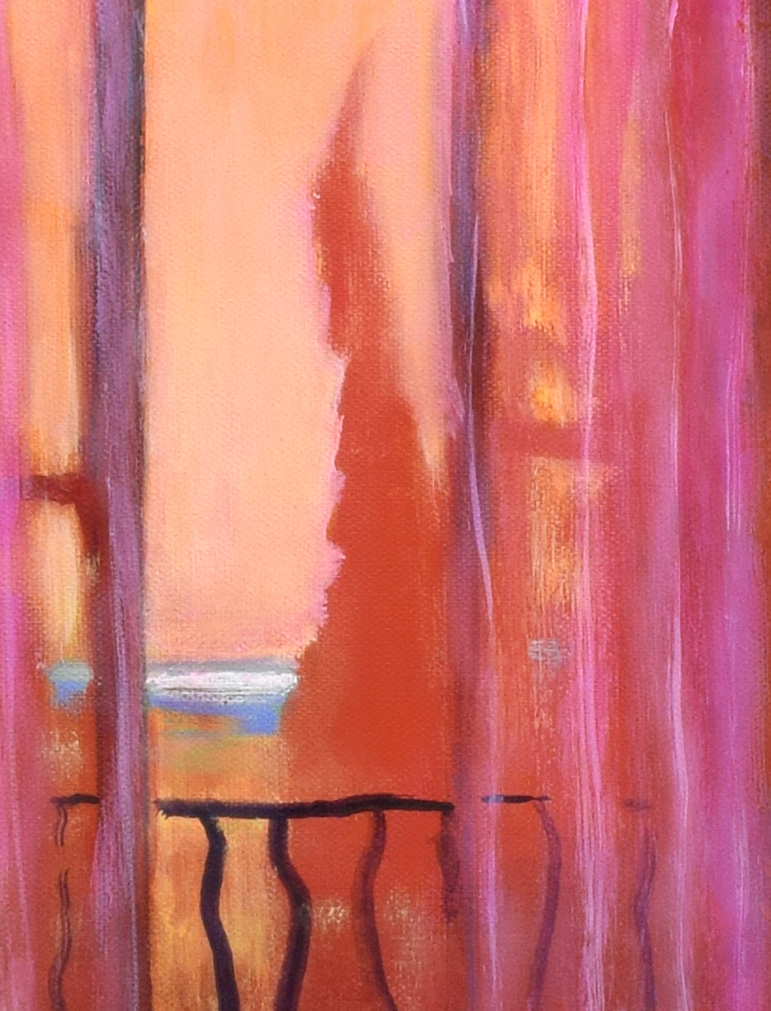 Detail with open window from Summer Evening, Vence by John O'Grady