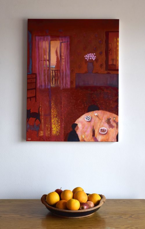 Large interior painting in situ called Summer Evening Vence, ©John O'Grady
